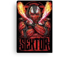 Sektor Mortal Kombat Canvas Print