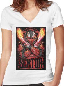 Sektor Mortal Kombat Women's Fitted V-Neck T-Shirt