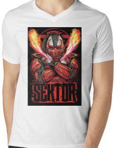 Sektor Mortal Kombat Mens V-Neck T-Shirt