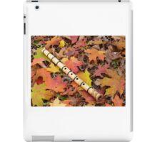 Fall With A Shakuhachi iPad Case/Skin