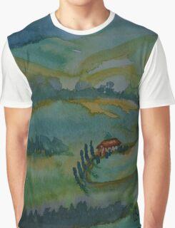 Shades of Tuscany Green Graphic T-Shirt