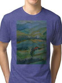 Shades of Tuscany Green Tri-blend T-Shirt