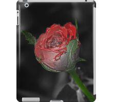 Single Red Rose sc iPad Case/Skin