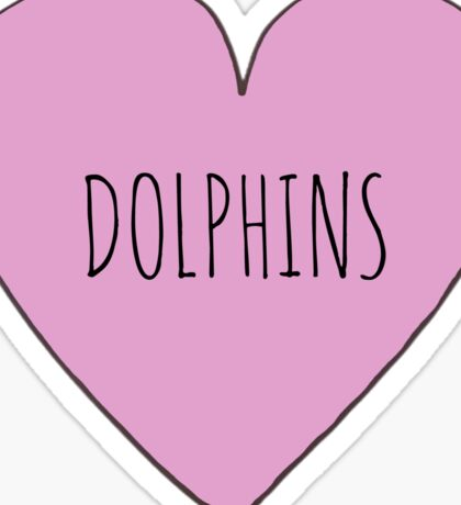 Dolphin Love Sticker