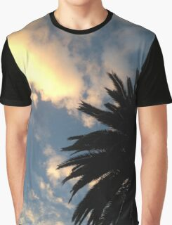 Palm Tree - The Sun Behind The Clouds Graphic T-Shirt