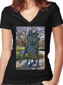 Australian Diggers Women's Fitted V-Neck T-Shirt