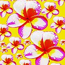 Frangipani Poster Style Print Skirt by Melissa Park