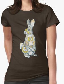 Mandala Bunny Womens Fitted T-Shirt