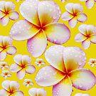 Pretty Pale Yellow Frangipani Skirt by Melissa Park