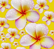 Pretty Pale Yellow Frangipani Skirt by Melissa Park