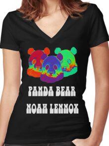 Original Panda Bear #2 Women's Fitted V-Neck T-Shirt