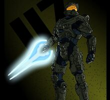 """""""117"""" - Master Chief Print by iSoul95"""