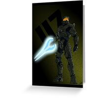 """117"" - Master Chief Print Greeting Card"