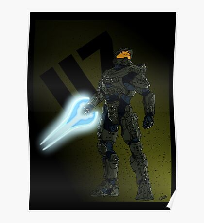 """""""117"""" - Master Chief Print Poster"""