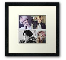 Baekhyun Collage Framed Print