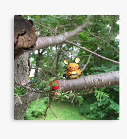 A Wild Dedenne Appears! Canvas Print