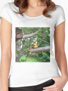 A Wild Dedenne Appears! Women's Fitted Scoop T-Shirt