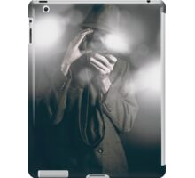 Vintage style photo journalist shooting a premiere iPad Case/Skin