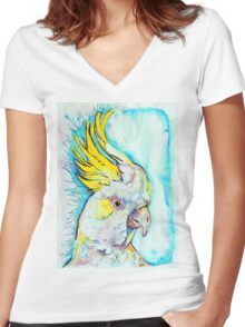 Blue Cockatoo Women's Fitted V-Neck T-Shirt