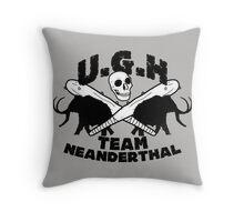 Prehistoric baseball team Throw Pillow