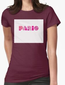 Paris in Pink Womens Fitted T-Shirt