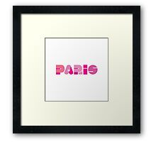 Paris in Pink Framed Print