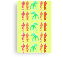 Dancing Robots Canvas Print