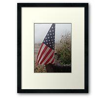 Stars and Stripes on Ice Framed Print