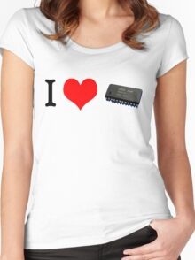 I Heart YM2612 Tee Women's Fitted Scoop T-Shirt