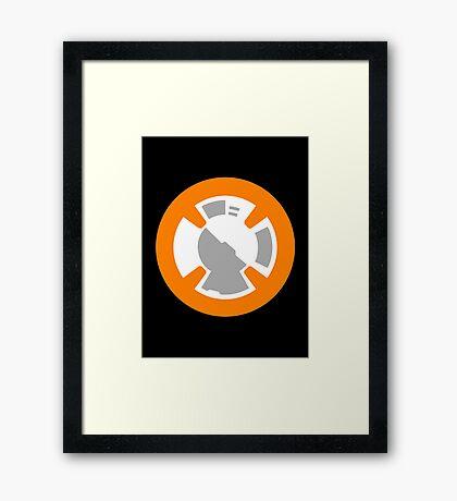 BB-8 Design Framed Print