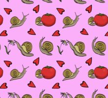 Snails Love Tomatoes Sticker