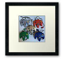 N64 Controllers Framed Print
