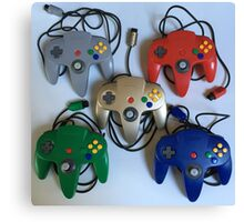 N64 Controllers Canvas Print