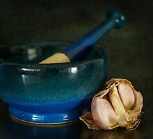 Still Life with Garlic by Clare Colins