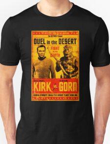 Star Trek Original Series Kirk vs Gorn Duel in the Desert Poster T-Shirt