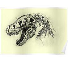 T rex Sketch Poster