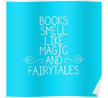 Books Magic Fairytales Blue Poster