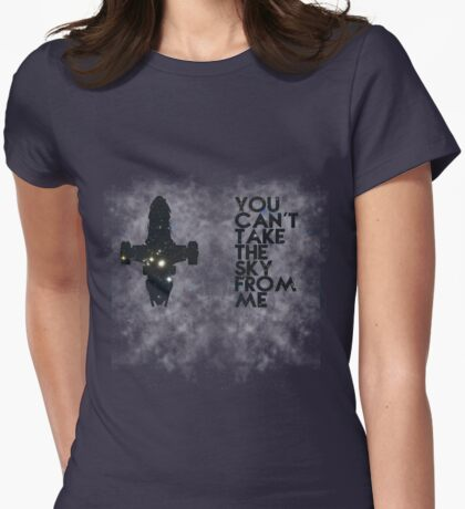 You Can't Take the Sky From Me - Oil Pastels Womens Fitted T-Shirt