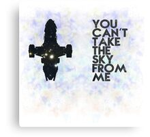 You Can't Take the Sky From Me - Oil Pastels Metal Print