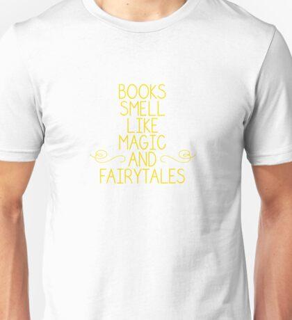 Books Magic Fairytales Yellow Unisex T-Shirt
