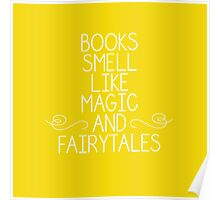 Books Magic Fairytales Yellow Poster