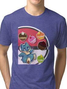 PKM Munchlax Munchies Tri-blend T-Shirt