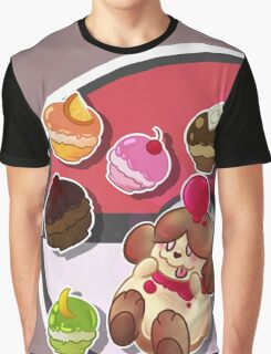 PKM Slurpuff Snack Graphic T-Shirt