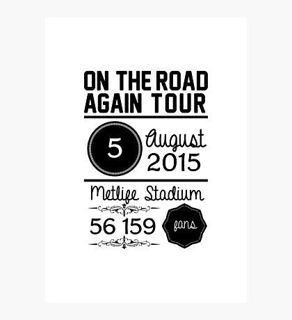 5th august - Metlife Stadium OTRA Photographic Print