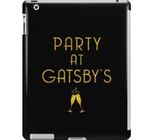 Party at Gatsby's (Gold on Black) iPad Case/Skin