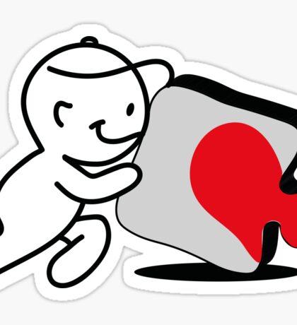 puzzle love2 Sticker