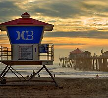 Huntington Beach Lifeguard Tower by K D Graves Photography