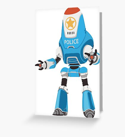 PROTECTRON: POLICE Greeting Card