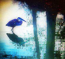 Heron in Blue by skottieo