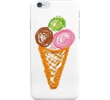 handmade drawing pastel chalks ice cream iPhone Case/Skin